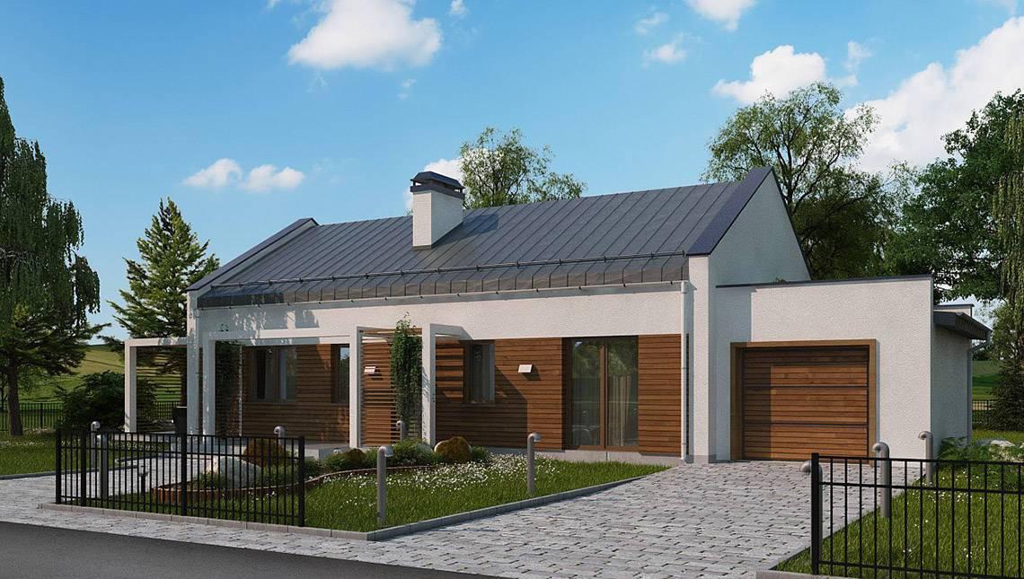 Современный загородный частный дом с гаражом