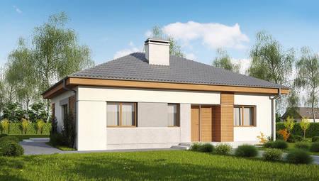 Проект измененного коттеджа по типу 4M314 с увеличенной гостиной