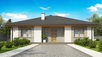 Недорогой вариант одноэтажного дома 4M470 без гаража