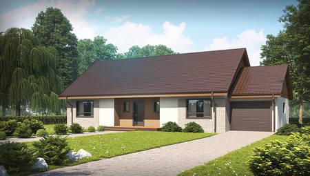 Дом с жилой мансардой и встроенным гаражом по версии проекта 4M538