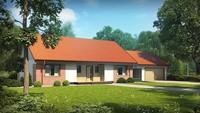 Одноэтажный дом с пристроенным гаражом и опрятной крышей