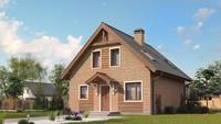 Популярный проект дома 4M540, только с фасадом из кирпича