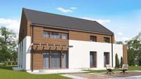 Двухэтажный коттедж по типу 4M600 с гаражом и террасой