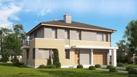 Популярный проект коттеджа 4M636, только с кирпичным фасадом