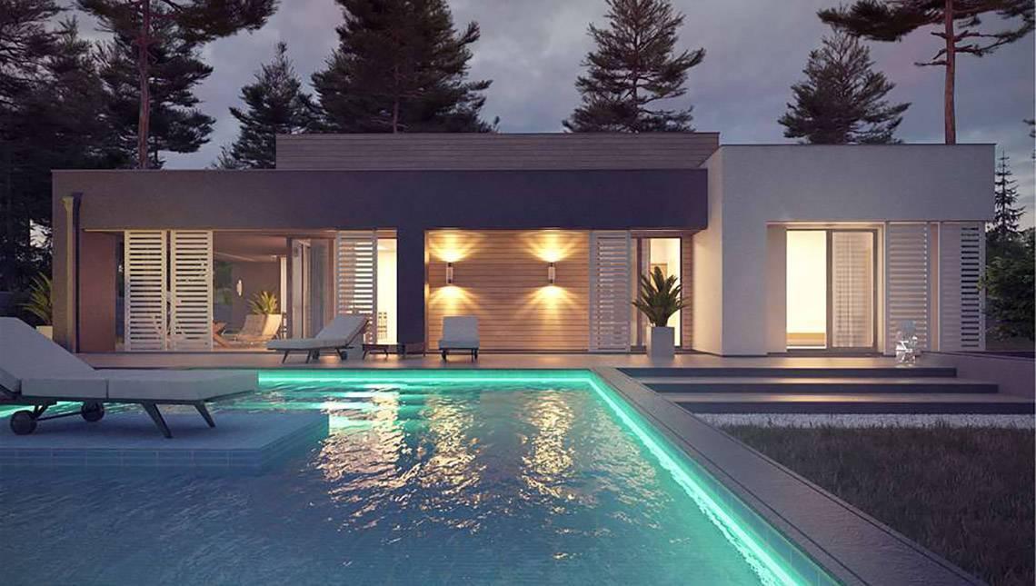 Загородный дом с бассейном проекты фото