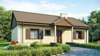 Проект дома в классическом стиле размерами 10 на 10 метров