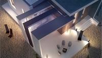 Современный дом для отдыха со стильной террасой