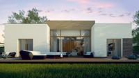 Проект современного дома с комфортабельной гостиной