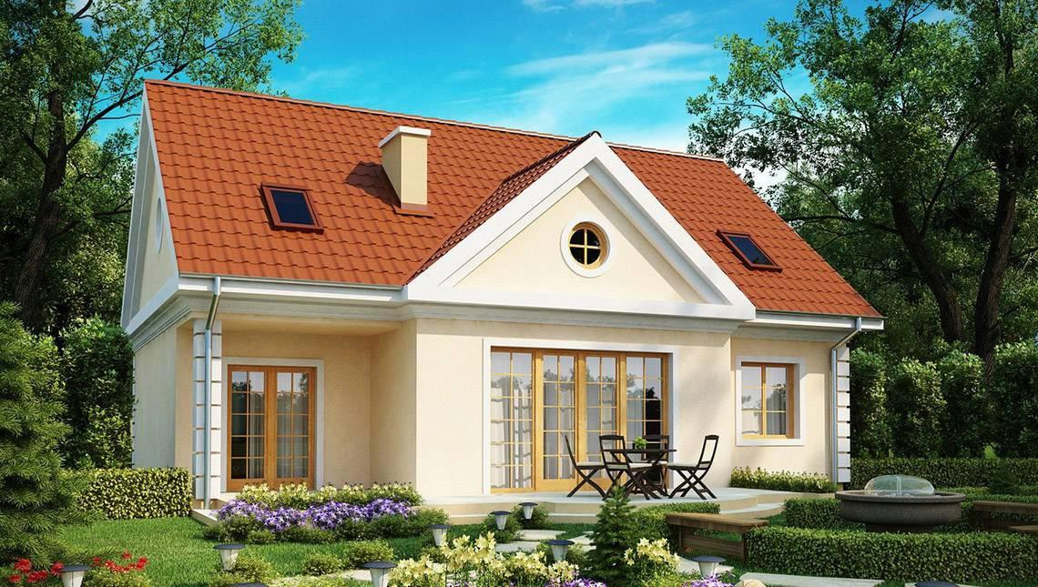 Стильный классический проект дома с 3-мя спальнями в мансарде