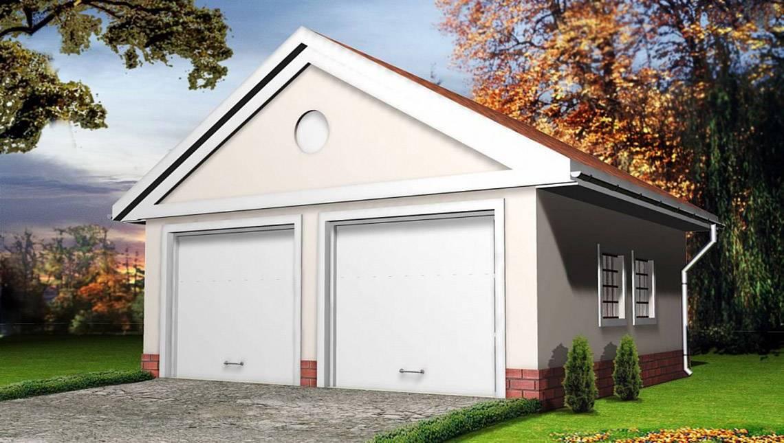 Проект гаража на два автомобиля