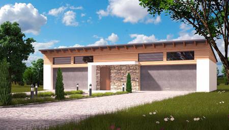 Проект большого удобного гаража на 4 машины