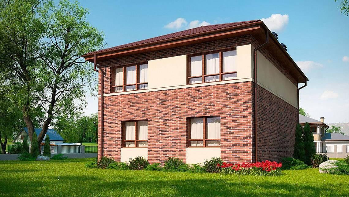 Классический 2х этажный коттедж по типу 4M628 без гаража