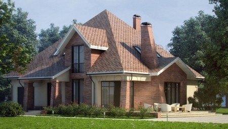 Проект особняка с просторной террасой и цокольным этажом