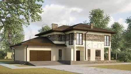 Проект практичного двухэтажного дома в классическом стиле