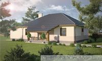Проект жилого коттеджа площадью 130 m²