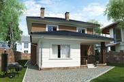 Великолепный проект коттеджа с крытой террасой площадью 200 m²