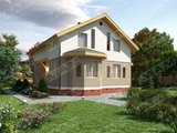 Проект стильного недорогого в строительстве загородного коттеджа