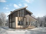 Проект жилого уютного загородного дома 190 m²