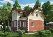 Проект красивого коттеджа площадью 180 m²