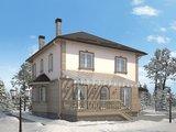 Проект классического коттеджа 220 m² с гаражом и террасой
