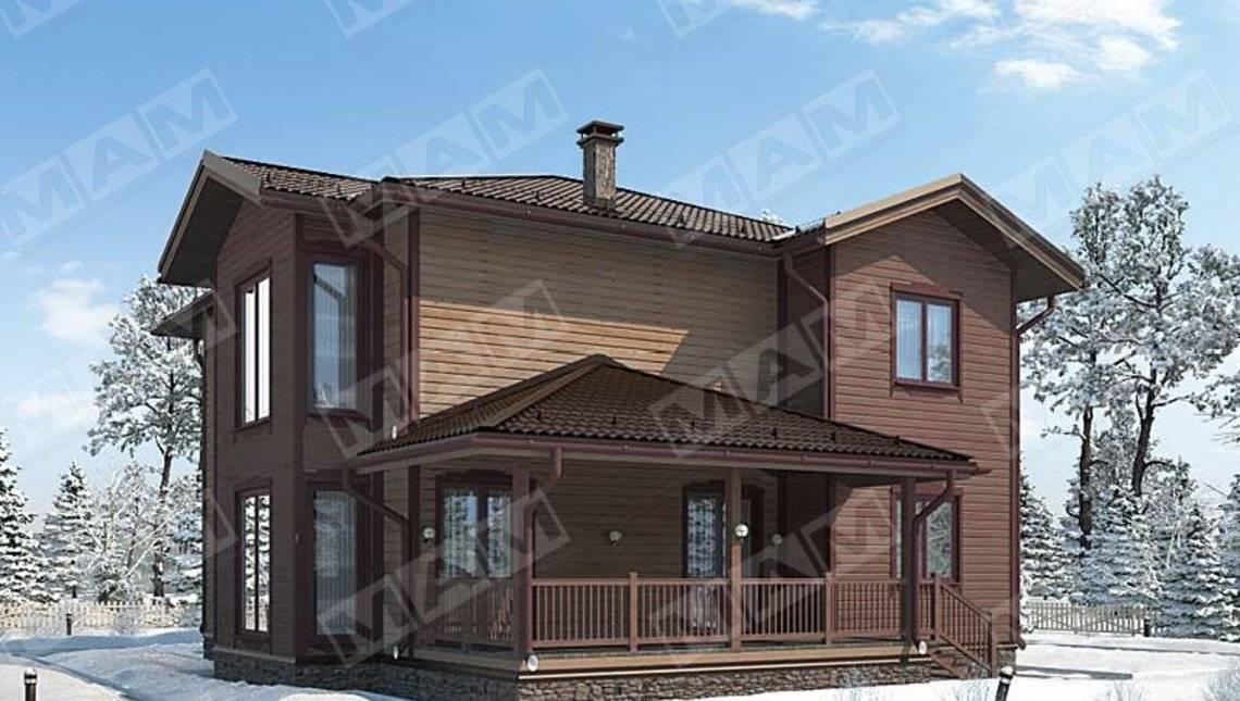 Проект коттеджа с оригинальным деревянным дизайном фасада