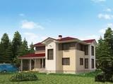 Проект загородного коттеджа с террасой и вторым светом на 2 этаже