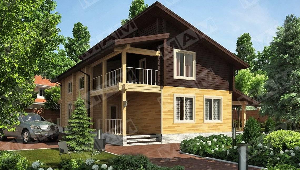 Проект загородного жилого коттеджа со вторым светом