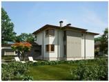Проект хай тек коттеджа с террасой и удобной планировкой