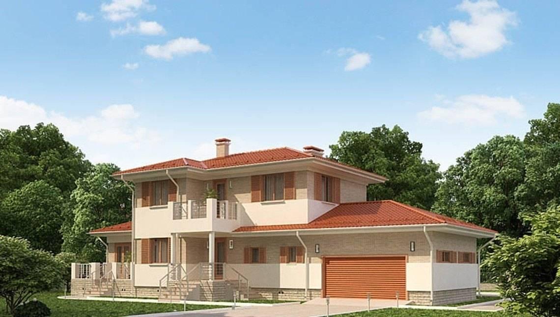 Проект двухэтажного особняка с удобной планировкой