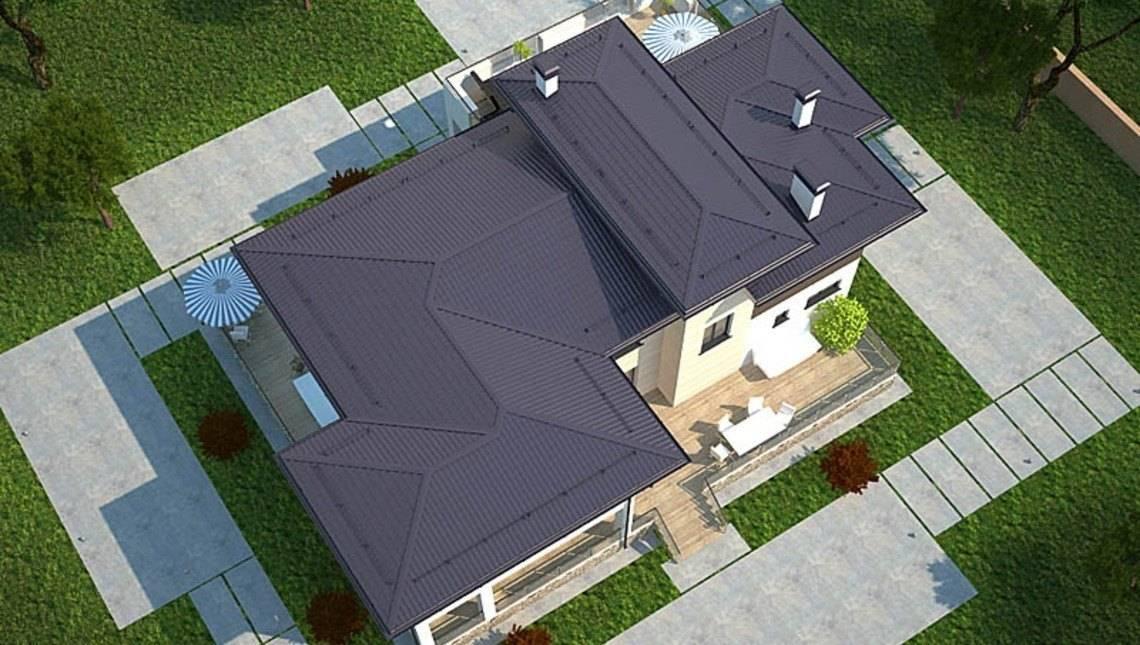 Проект коттеджа для отдыха с плоской крышей
