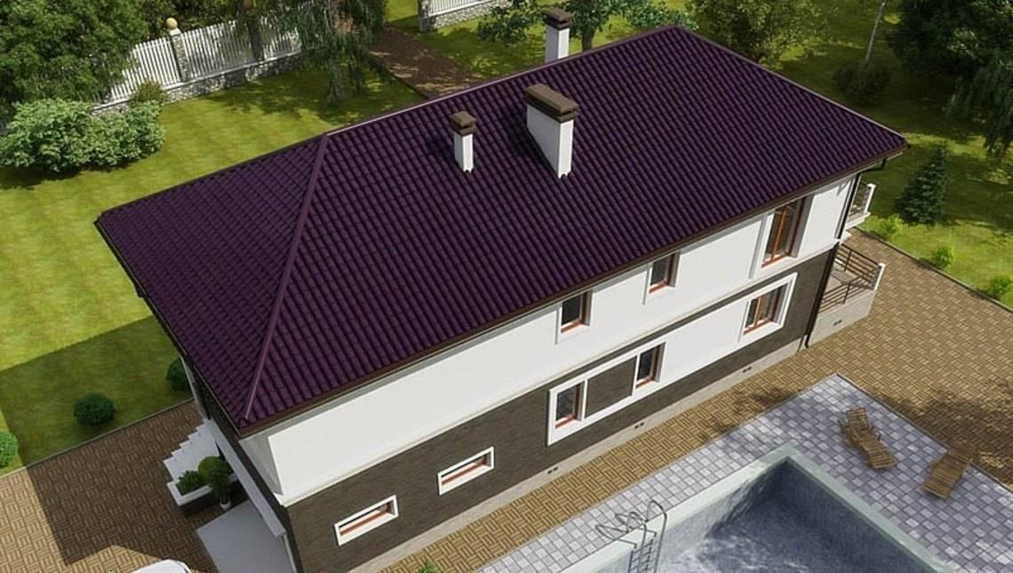 Проект узкого двухэтажного коттеджа