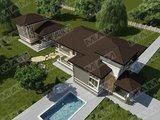 Проект 2х этажного загородного коттеджа площадью до 300 m²