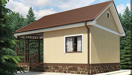 Архитектурный проект бани с крытым крыльцом