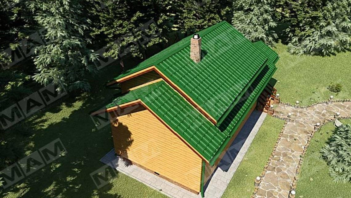 Проект удобной бани совмещённой с гостевым домиком