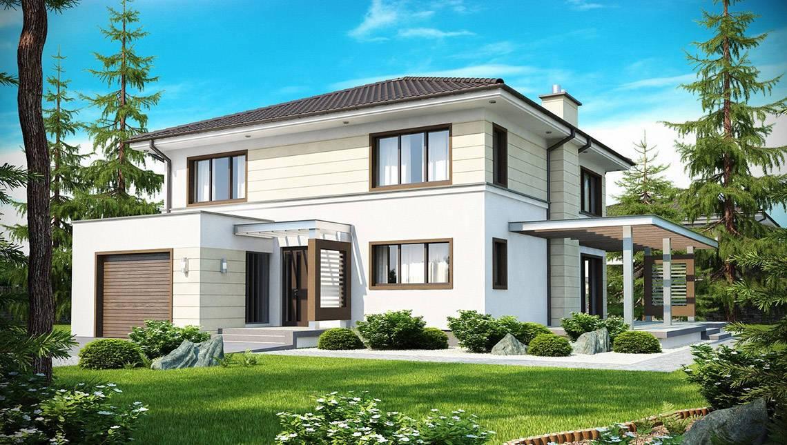Светлый двухэтажный коттедж со вторым светом