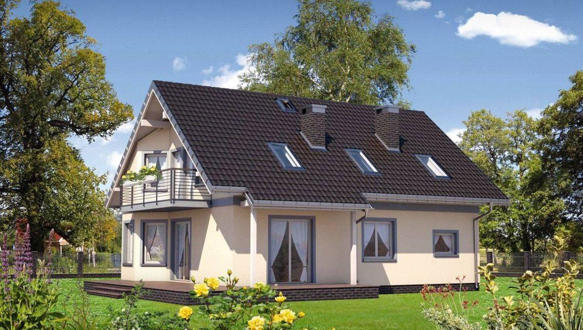 Уютный дом со встроенным гаражом и огромной угловой террасой