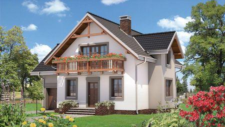 1,5-этажный дом 200 m² с гаражом на 1 авто