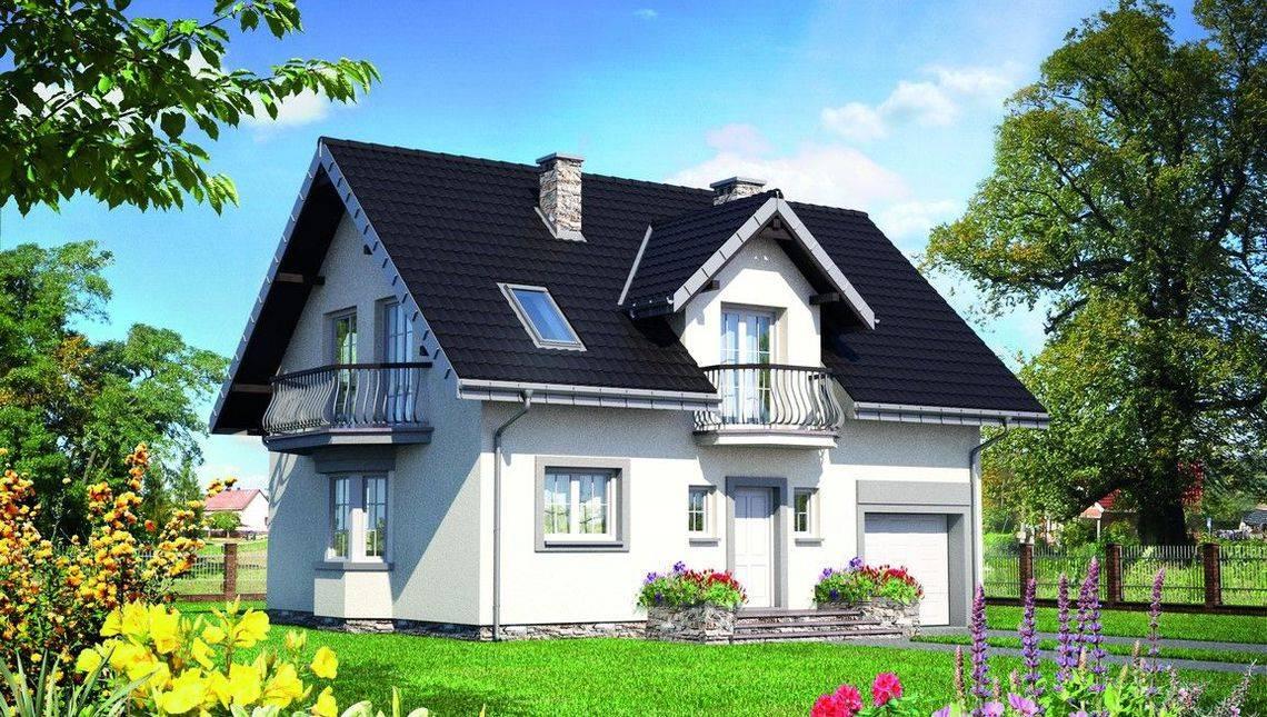 Проект загородного коттеджа с мансардой площадью до 150 m²