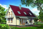 Приятного вида двухэтажное строение с балконом