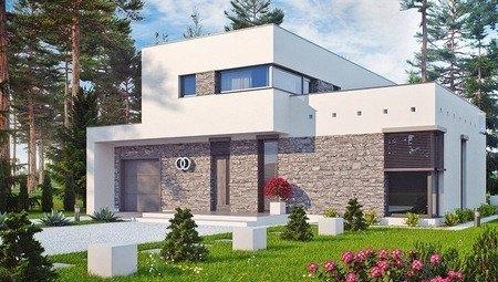 Особняк с огромной террасой в стиле модерн