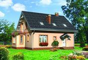 Жилой дом мансардного типа с просторной гостиной и пятью спальнями