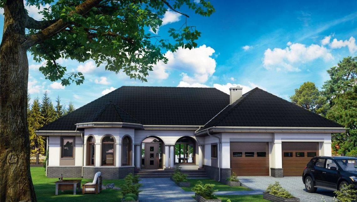 Красивый одноэтажный проект с интересным фасадом