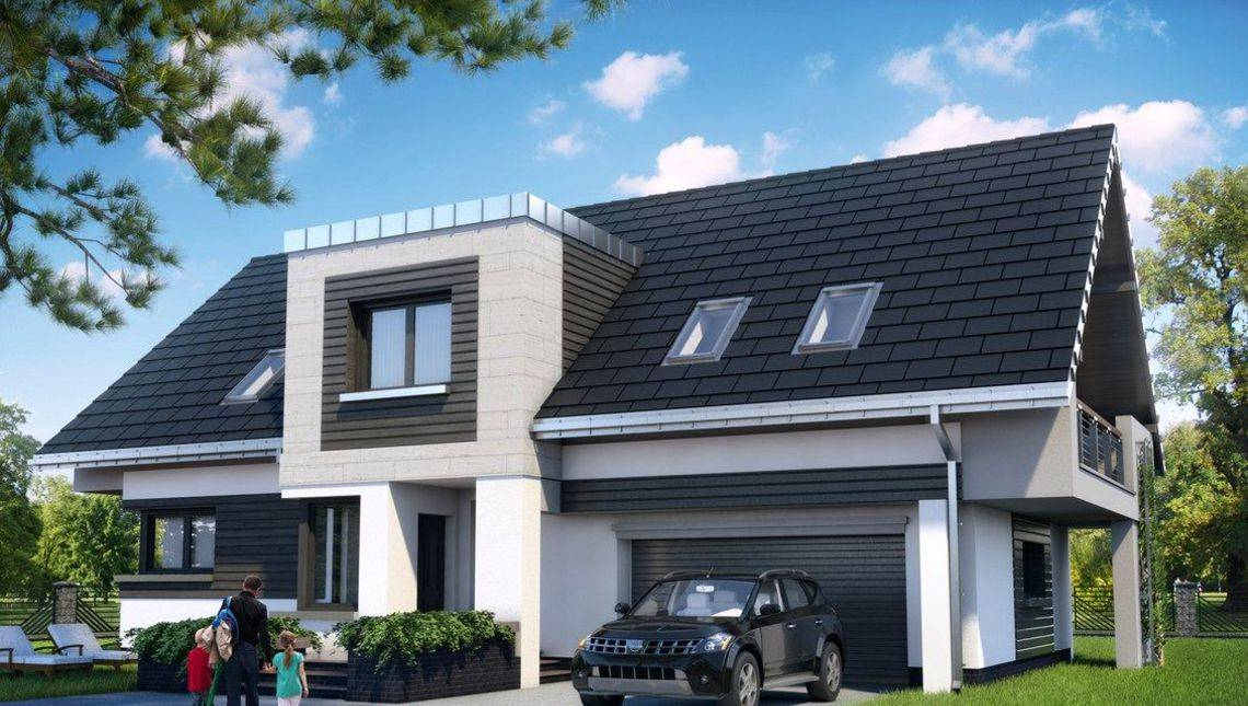 Неповторимый загородный дом с большим гаражом и террасой на заднем дворе