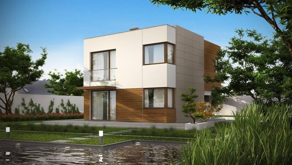 Компактный проект современного дома хай-тек