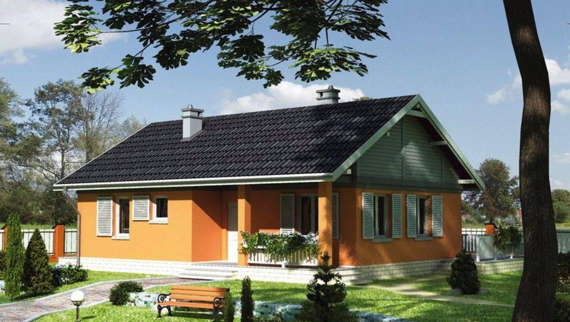 Проект симпатичной усадьбы за городом с площадью 80 m²