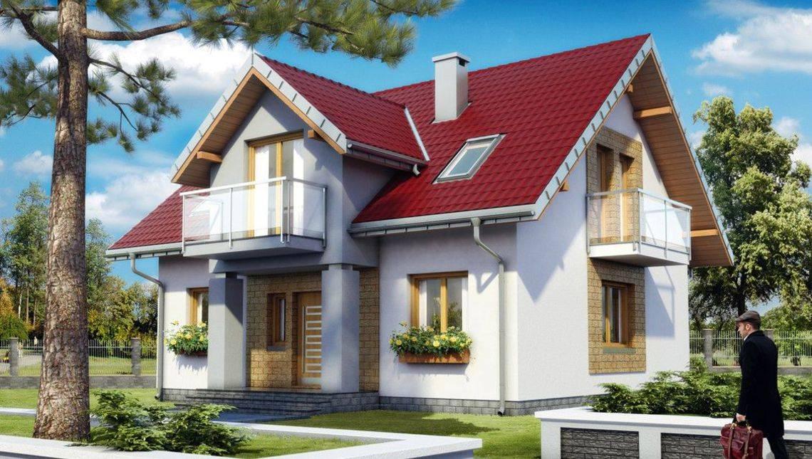 Двухэтажный жилой дом современного дизайна