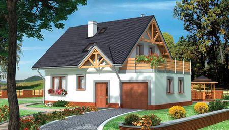 Проект стильной усадьбы с четырьмя спальнями