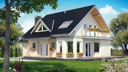 Красивый загородный особняк удобной планировкой комнат