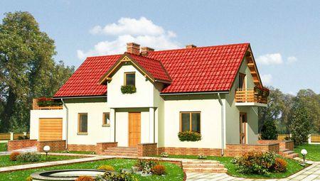 Оригинальный загородный коттедж с красивой верандой и балконами