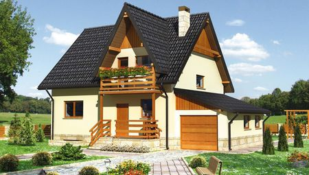 Компактный загородный коттедж с пятью спальнями и большой кухней